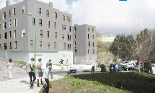 Novas vivendas de promoción pública en Cambeses (Vigo)